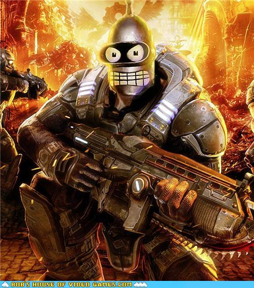 funny video game photos - Gears of Bender, or Benders of War?