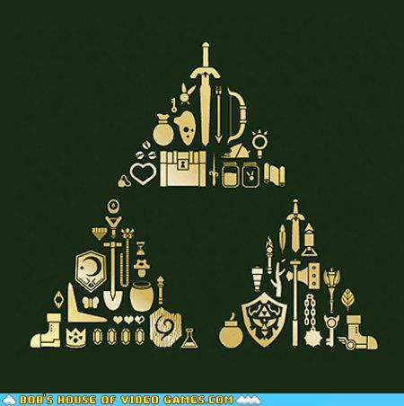 funny video game photos  - The Force in Tri-Force
